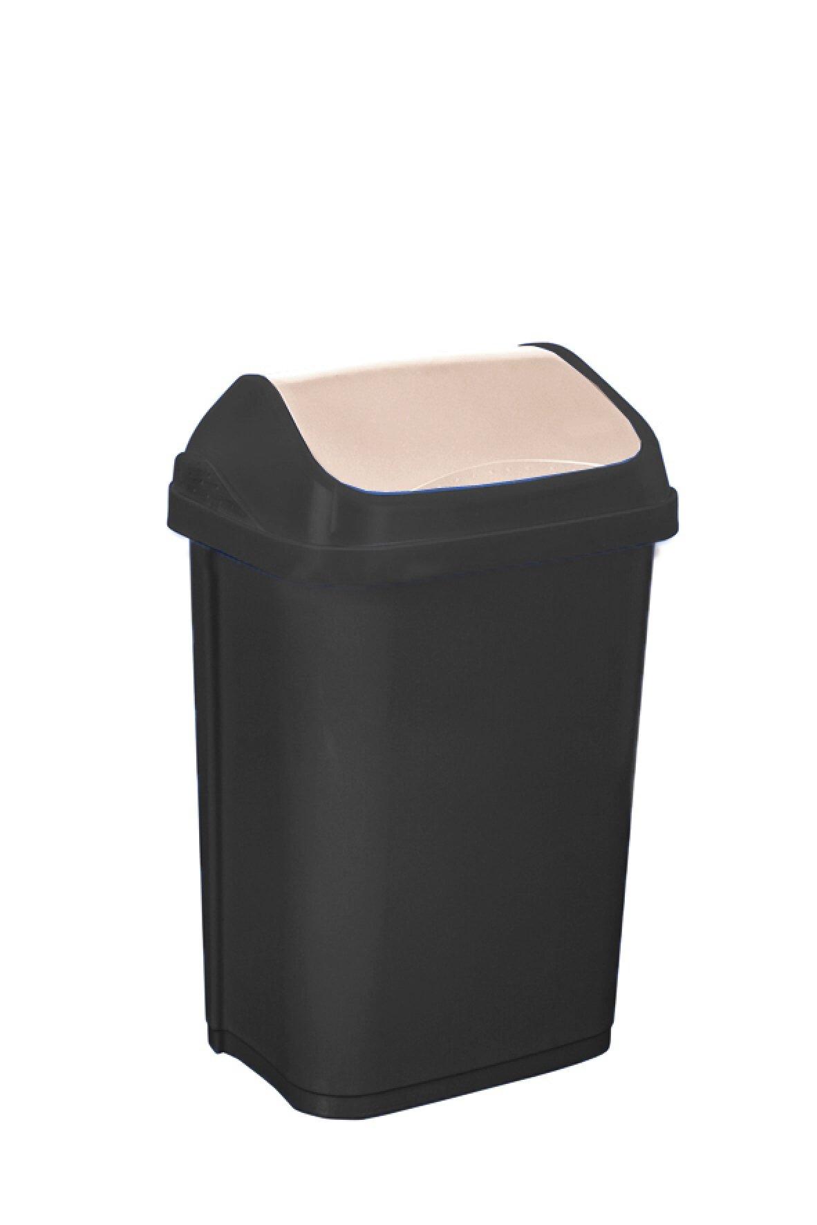 Keeeper Odpadkový koš s kyvným víkem swantje, tmavě šedý 10L