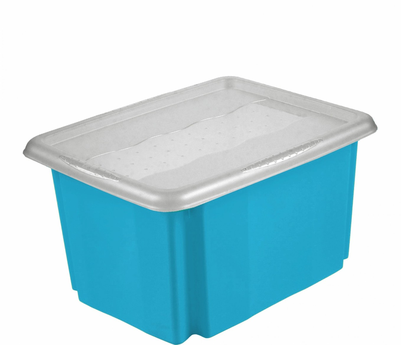 Keeeper Úložný box s víkem Emil & Emilia, modrý 45L