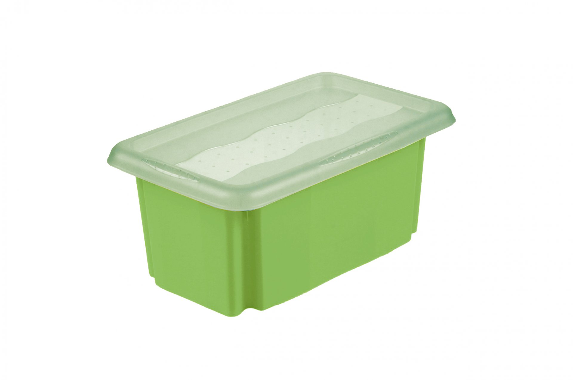 Keeeper Úložný box s víkem Emil & Emilia, zelený 7L