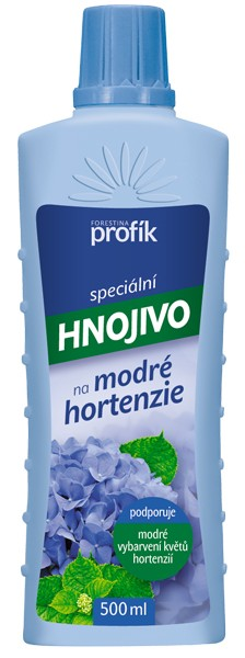 Speciální kapalné hnojivo na modré hortenzie Forestina PROFÍK 0,5 l