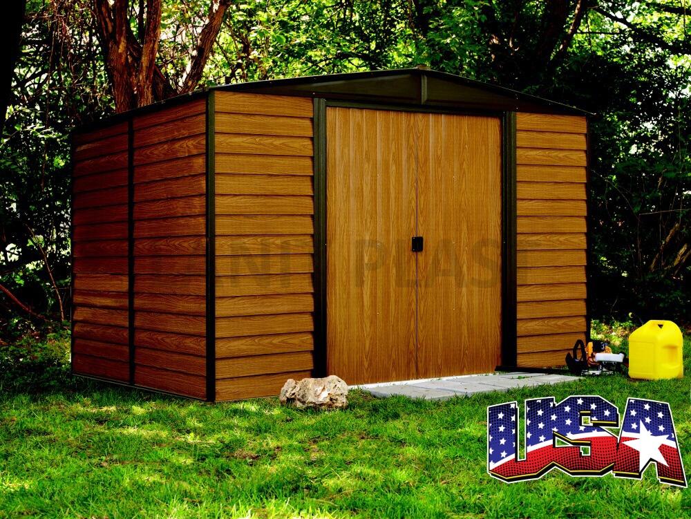 Kovový zahradní domek ARROW EURO DALLAS 108 (7,14 m2)