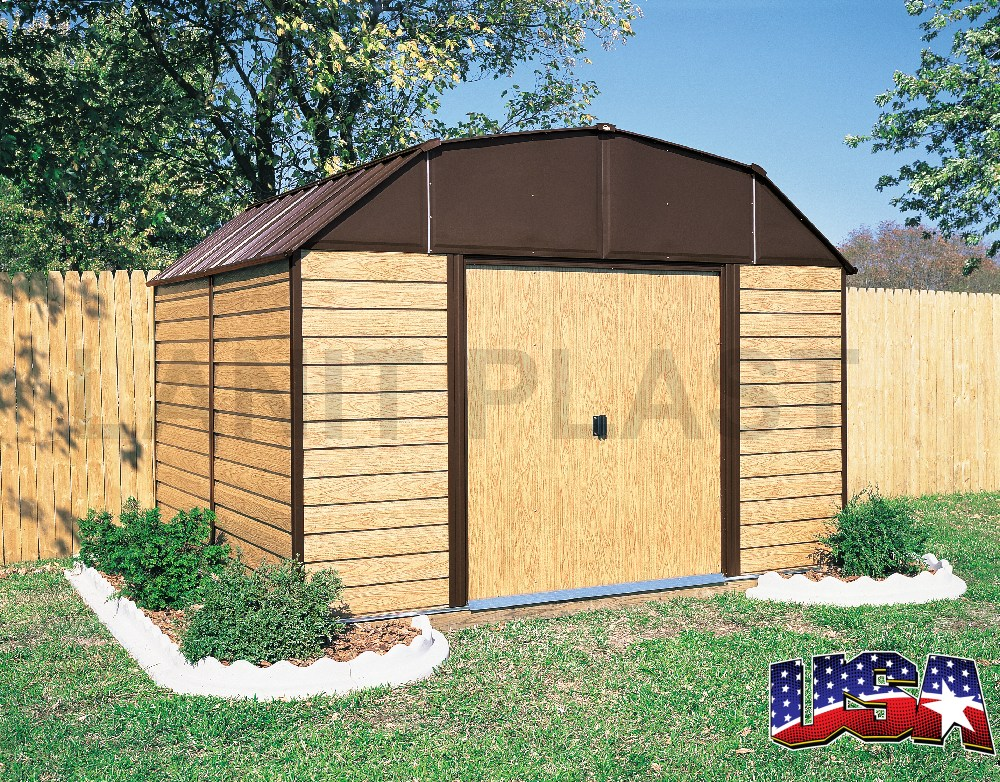 Kovový zahradní domek ARROW WOODHAVEN 109 (8,08 m2)