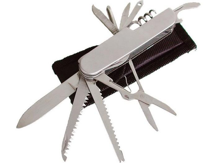 Nůž zavírací multifunkční s pouzdrem 11-ti dílný