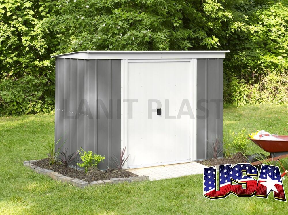Kovový zahradní domek ARROW PT 84 (2,74 m2) šedý