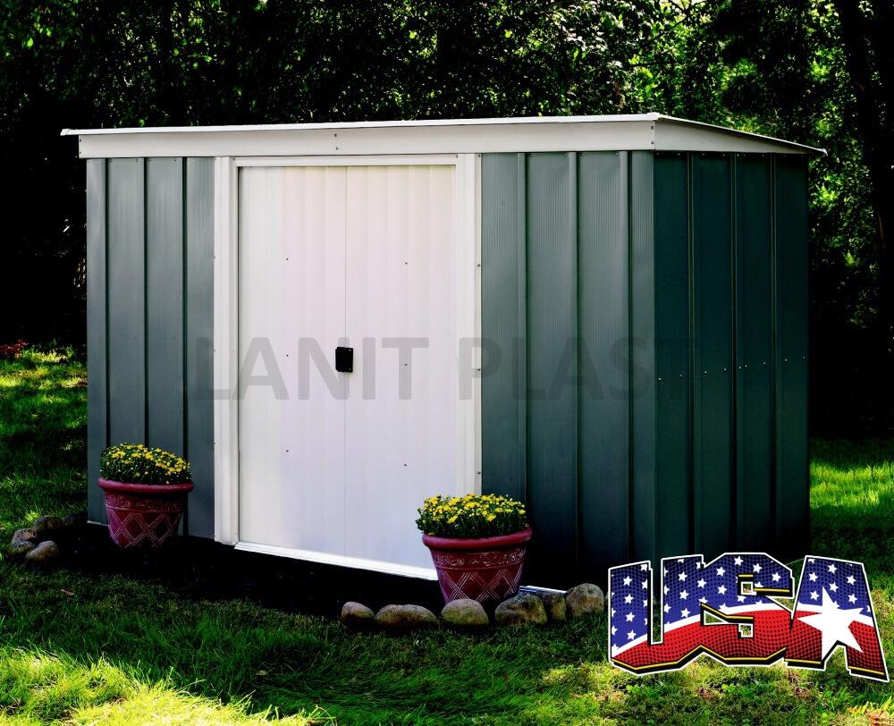 Kovový zahradní domek ARROW PT 104 (3,41 m2) šedý