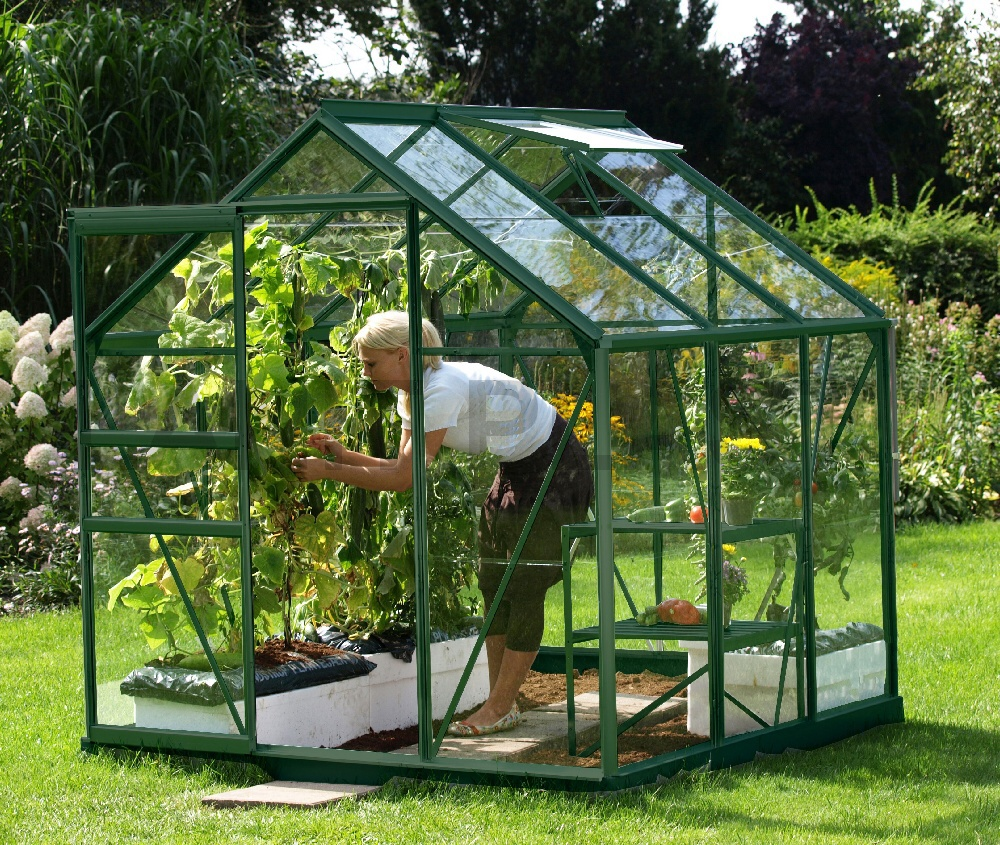 Skleník VITAVIA VENUS 3800 matné sklo 3 mm zelený
