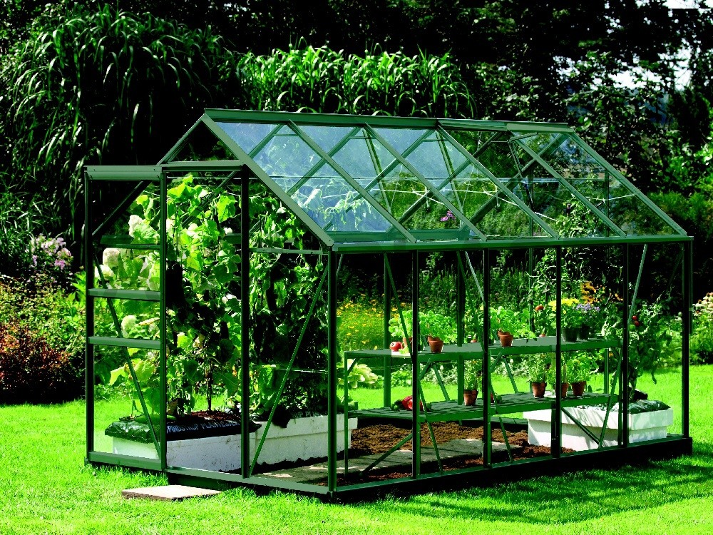 Skleník VITAVIA VENUS 6200 čiré sklo 3 mm zelený