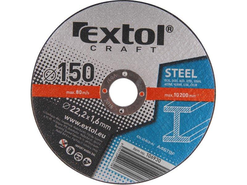 Kotouč řezný na kov EXTOL CRAFT 5ks, 150x1,6mm 106930