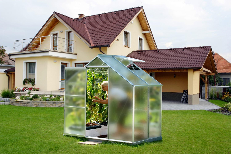 Skleník VITAVIA VENUS 2500 matné sklo 4 mm stříbrný