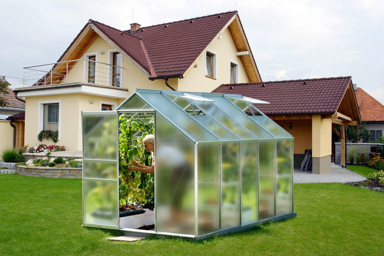 Skleník VITAVIA VENUS 6200 matné sklo 4 mm stříbrný