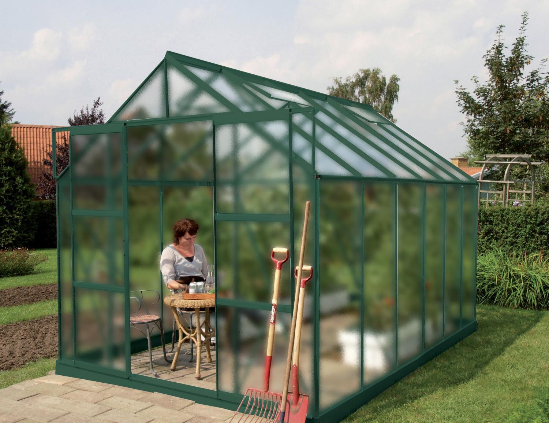 Skleník VITAVIA URANUS 9900 matné sklo 4 mm zelený