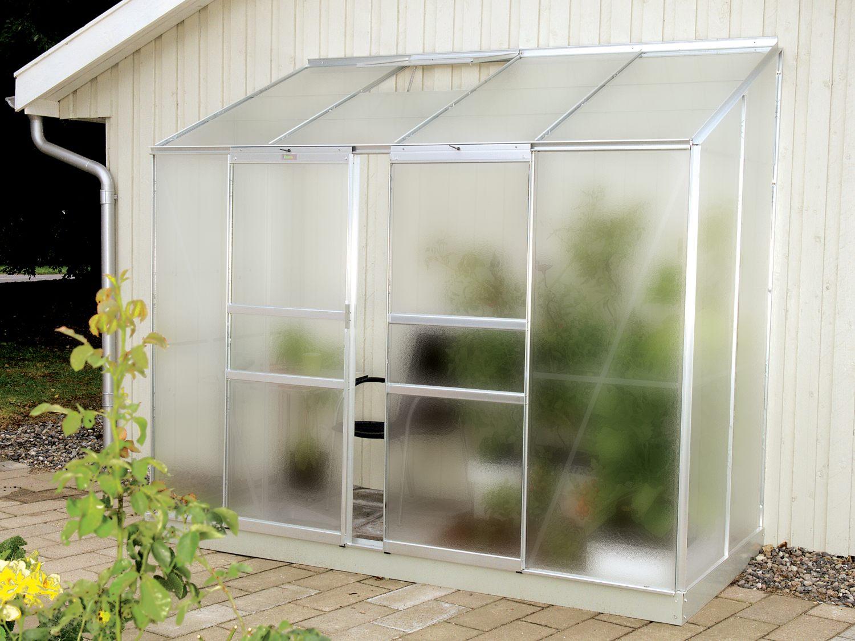 Skleník VITAVIA IDA 3300 matné sklo 4 mm stříbrný