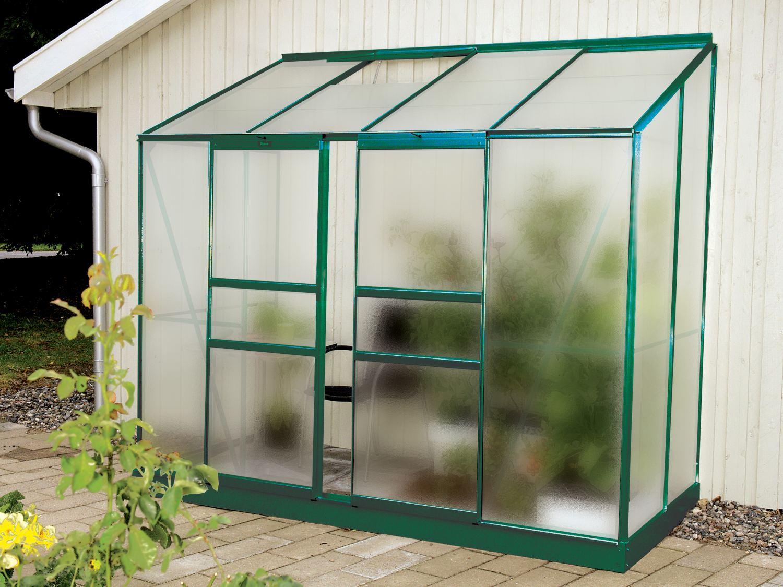 Skleník VITAVIA IDA 3300 matné sklo 4 mm zelený