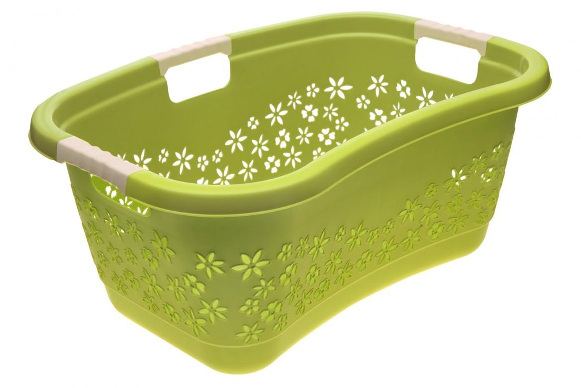 Keeeper Ergonomický koš na čisté prádlo lasse, zelený 50l