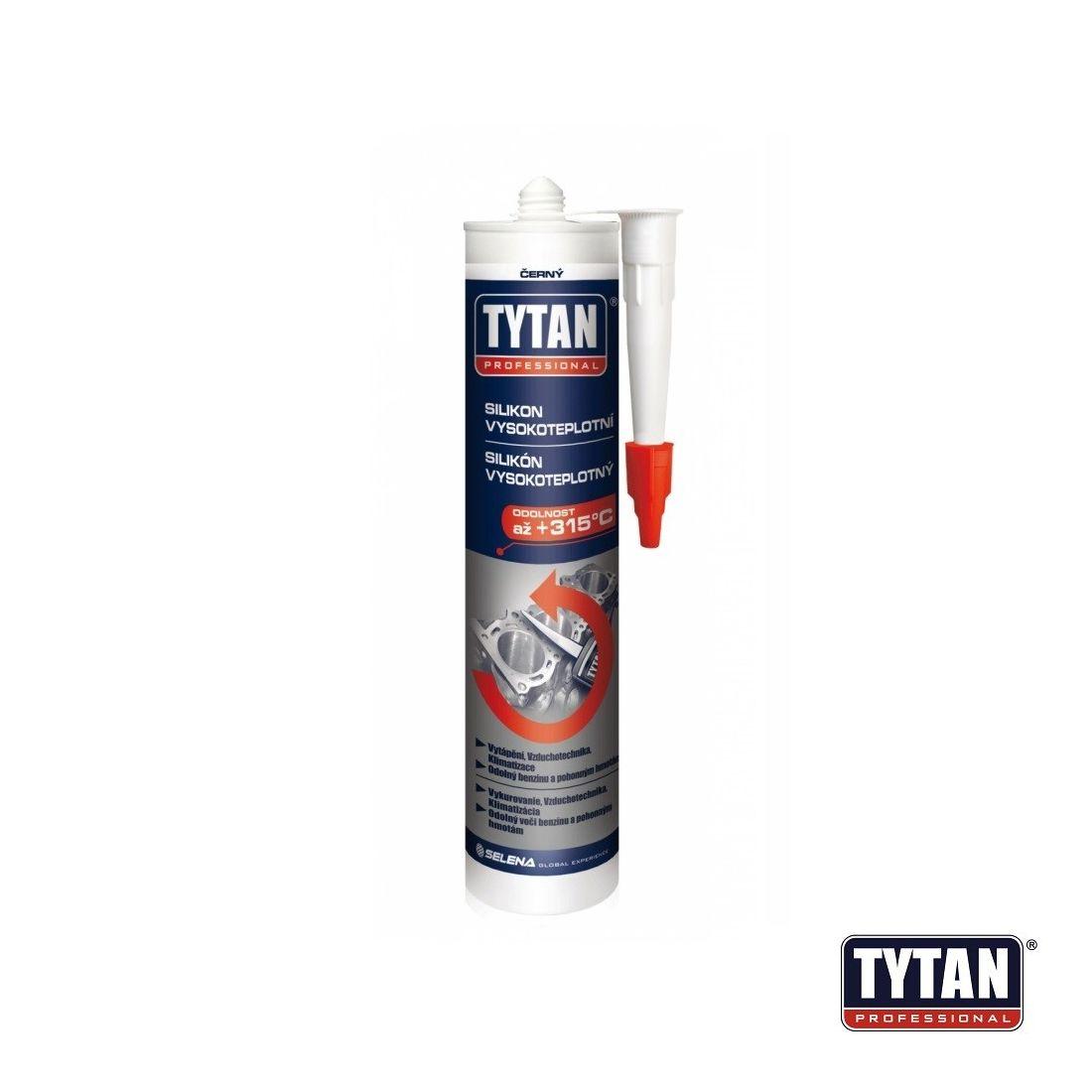 Silikon vysokoteplotní 310 ml červený TYTAN