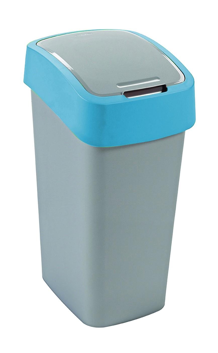 Curver Odpadkový koš FLIP BIN 50l stříbrný/modrý