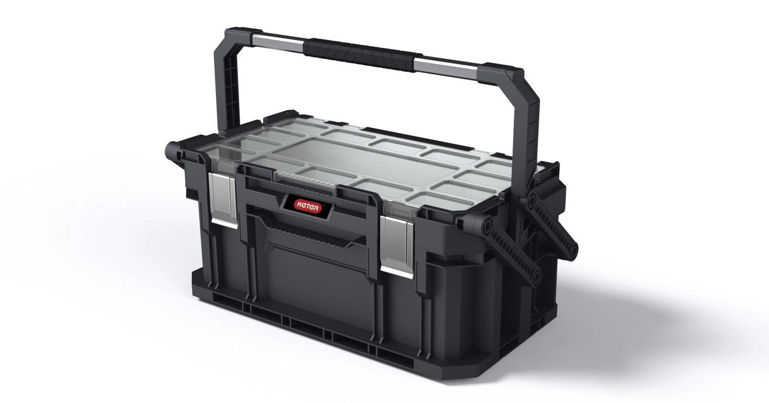 """Keter Smart Cantilever kufr na nářadí černý 56,5x31,7x25,1cm 22"""""""