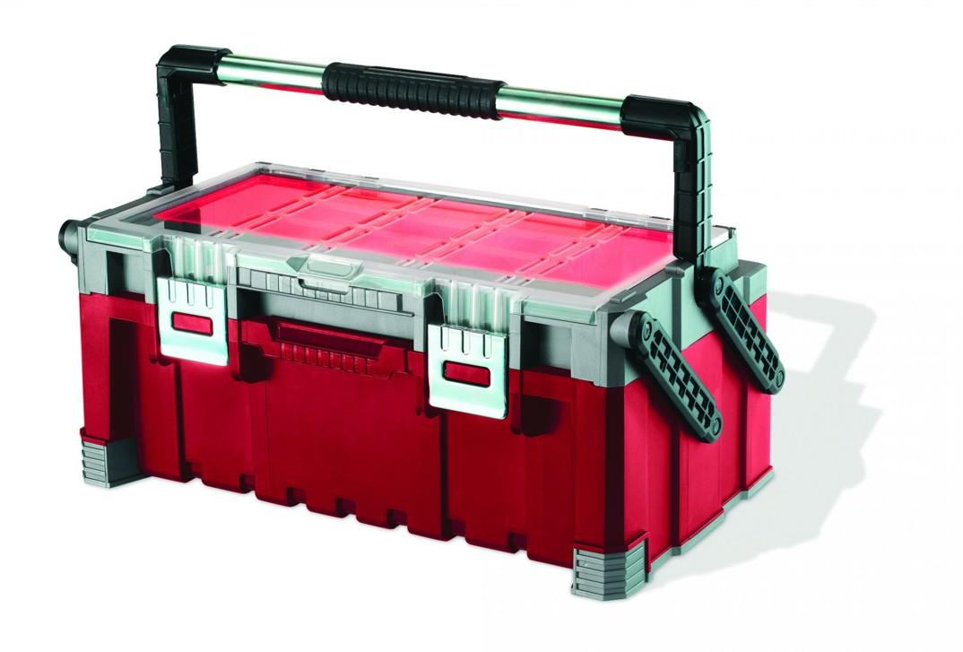 """Keter kufr na nářadí červený 56,7x31,4x24,5cm 22"""""""