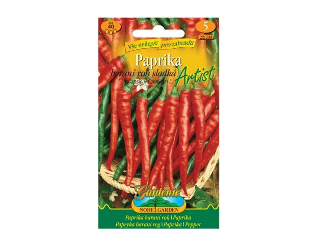 Paprika zeleninová sladká ARTIST, typ beraní roh NG GARDENIA