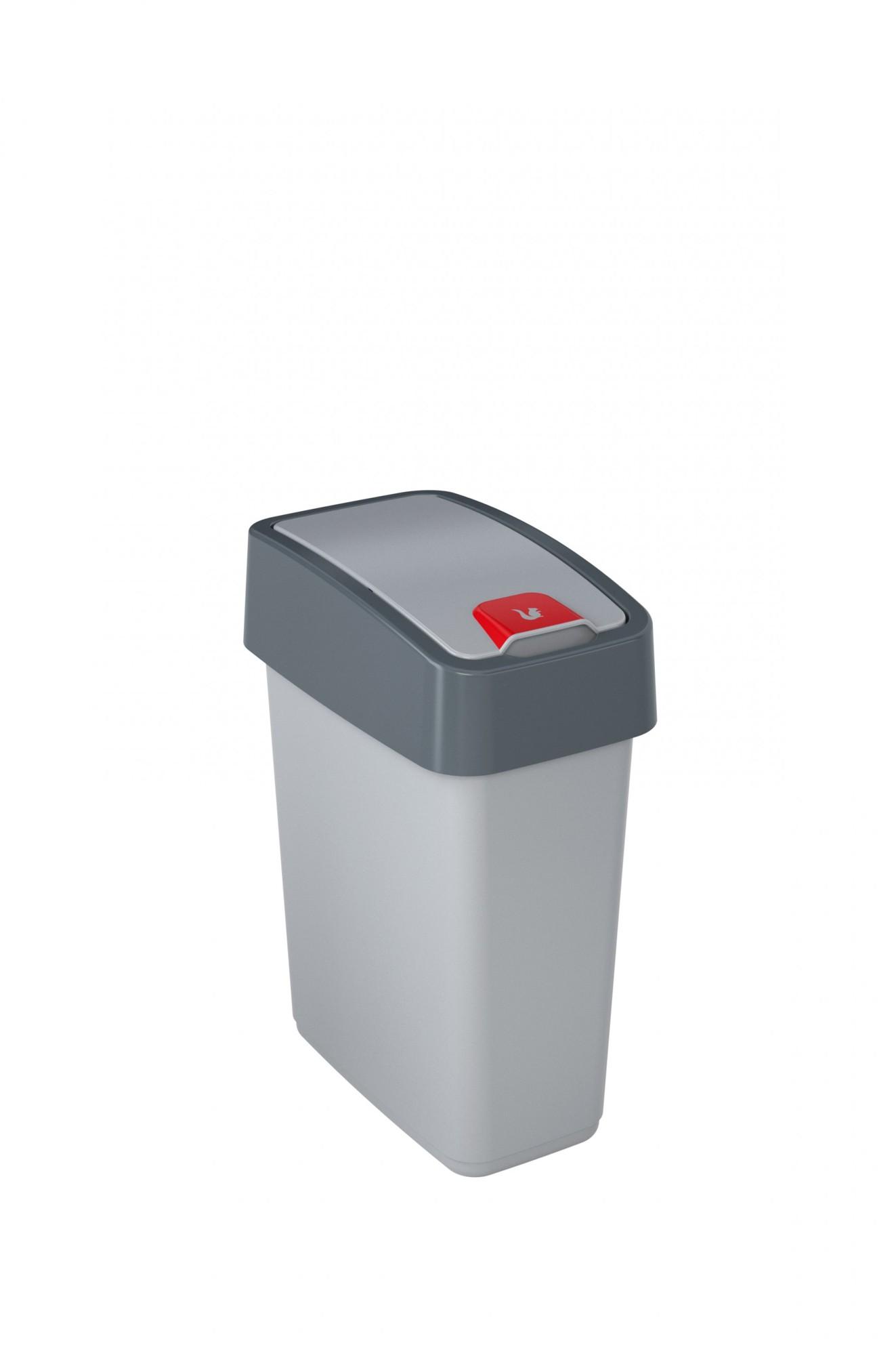 Keeeper Odpadkový koš s výklopným víkem magne, světle šedá 10L