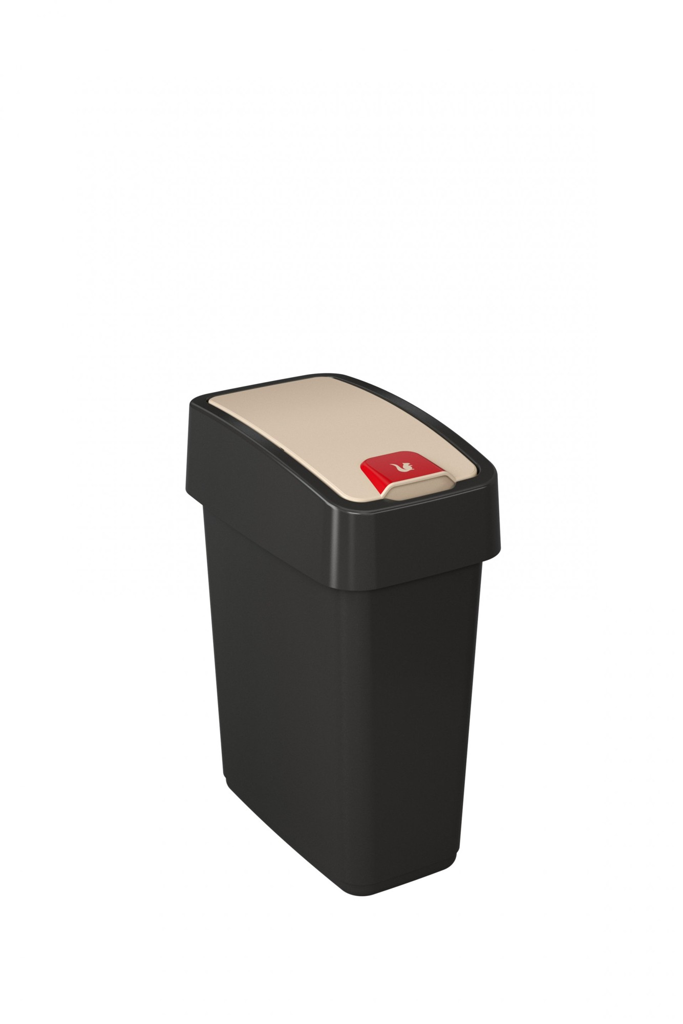 Keeeper Odpadkový koš s výklopným víkem magne, tmavě šedá 10L