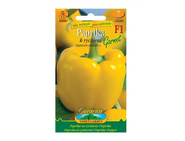 Paprika zeleninová k rychlení GARNET F1- hybrid NG GARDENIA