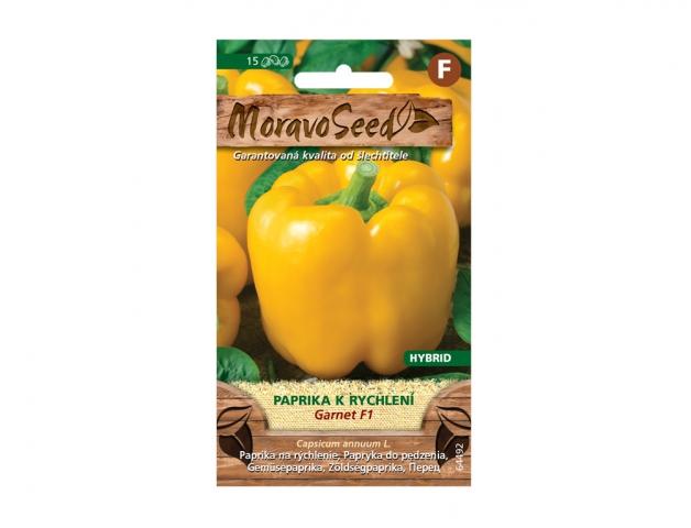 Paprika zeleninová k rychlení GARNET F1, žlutá 64492 MORAVOSEED