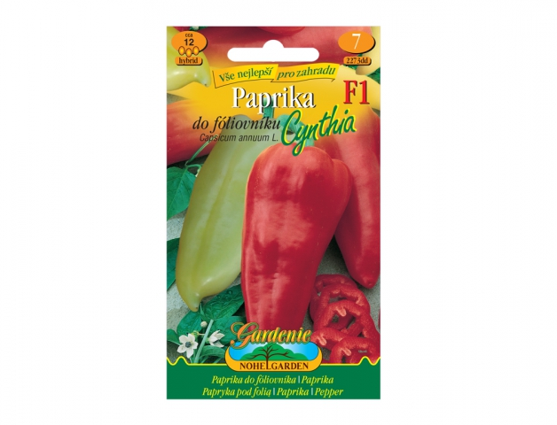Paprika zeleninová do fóliovníku CYNTHIA F1 - hybrid NG GARDENIA
