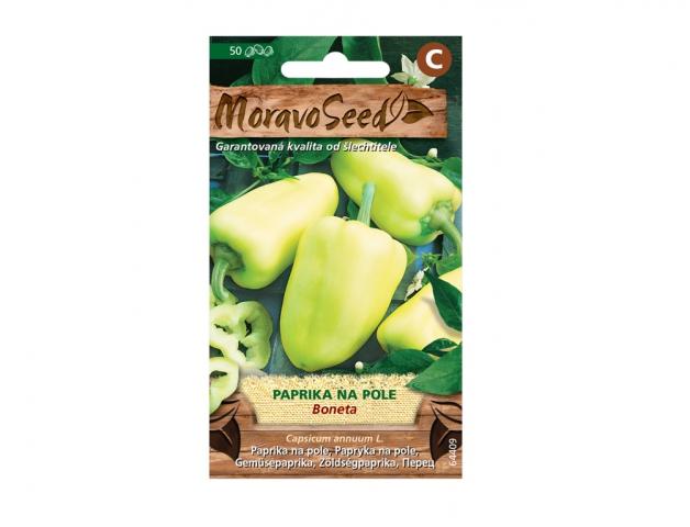 Paprika zeleninová raná BONETA, na pole 64409 MORAVOSEED