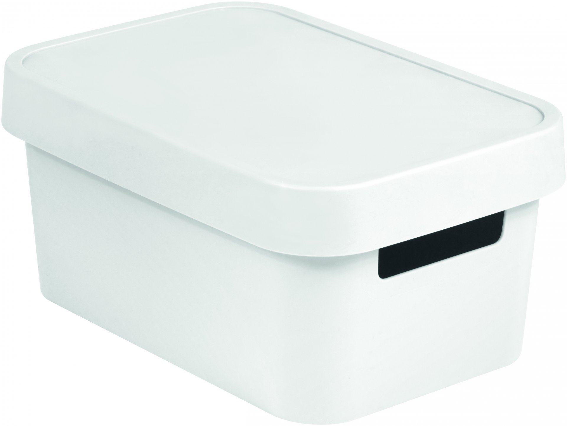 Curver Úložný box INFINITY 4,5l s víkem bílý