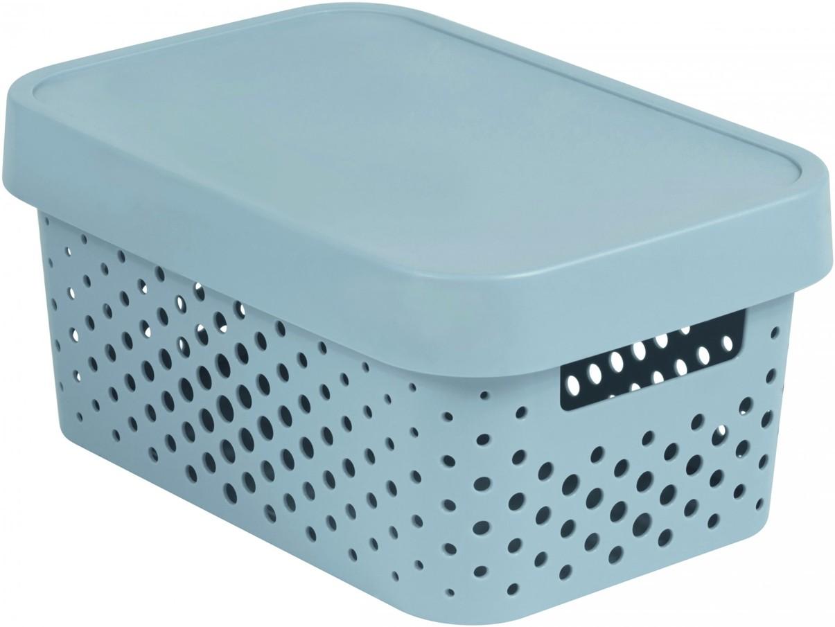 Curver Úložný box INFINITY 4,5l s víkem šedý putníky