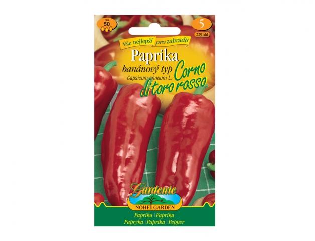 Paprika zeleninová CORNO DI TORO ROSSO, červená NG GARDENIA