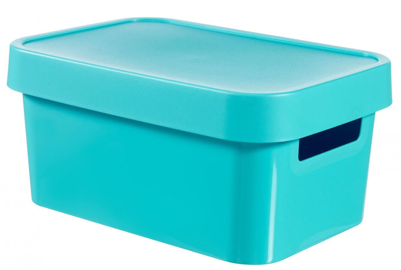 Curver Úložný box INFINITY 4,5l s víkem modrý