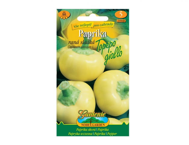 Paprika zeleninová raná sladká TOPEPO GIALLO, žlutá NG GARDENIA