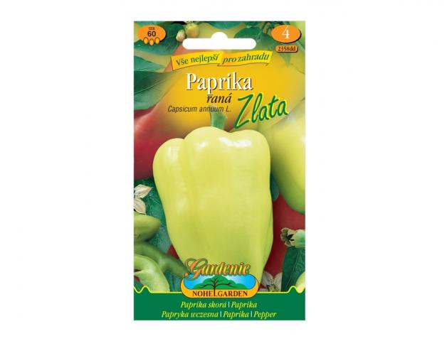 Paprika zeleninová raná ZLATA, žlutá NG GARDENIA