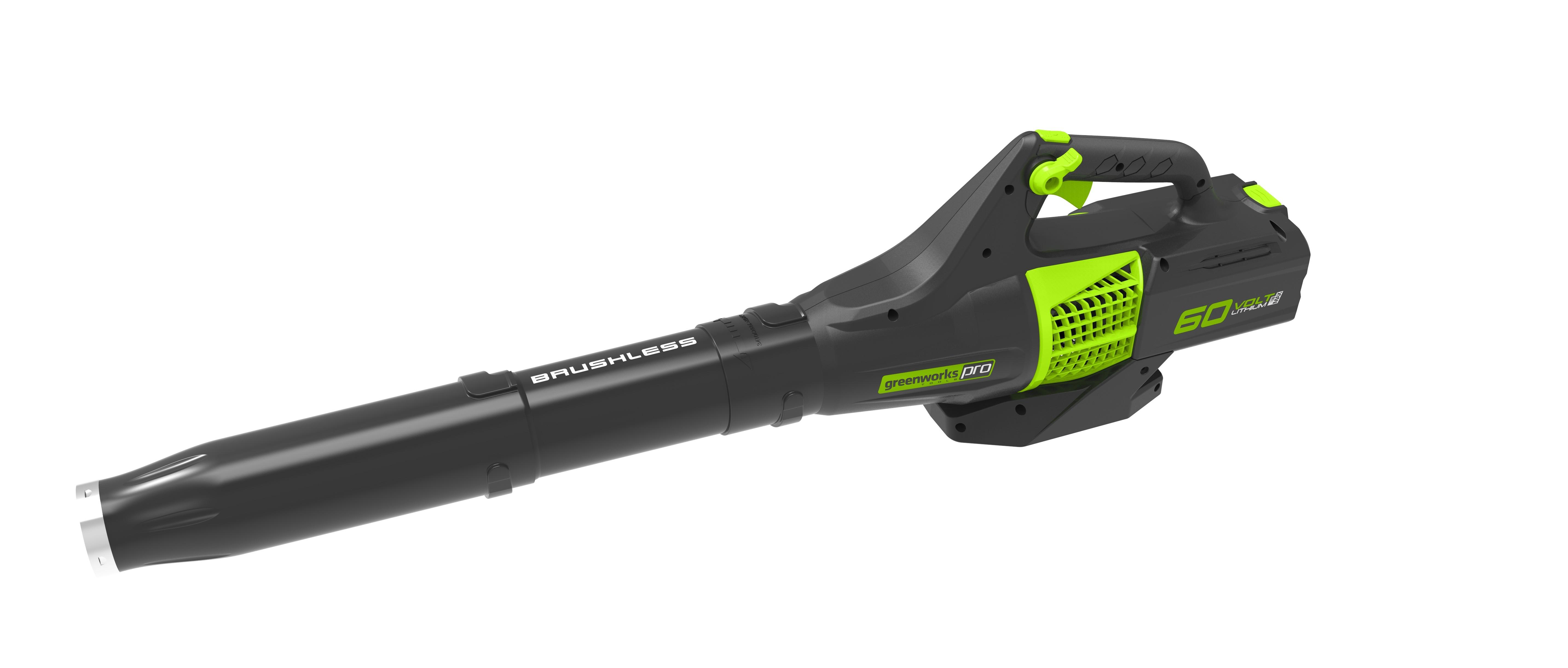 60 V aku foukač s indukčním motorem Greenworks GD60AB