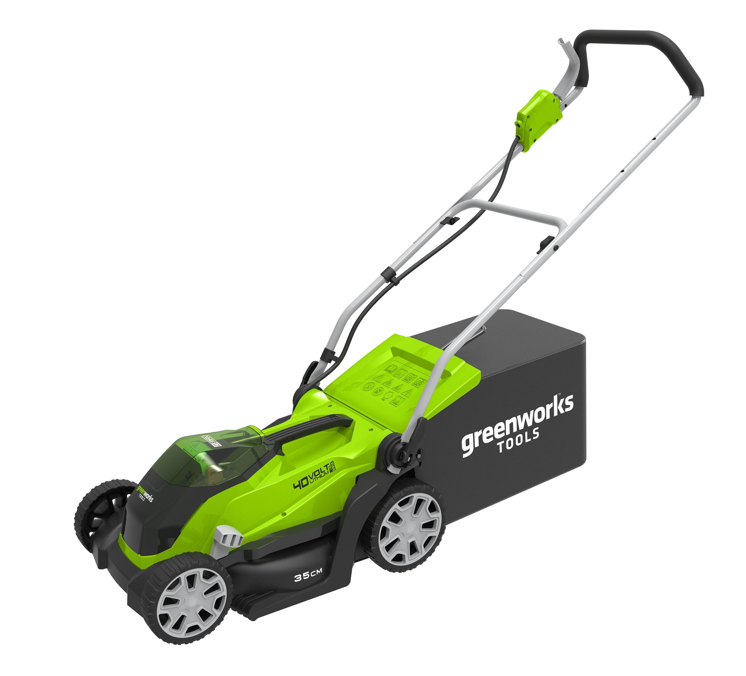 40 V aku travní sekačka 35 cm Greenworks G40LM35