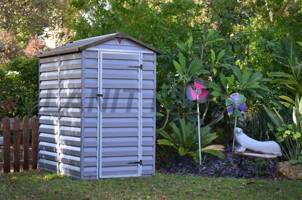 Zahradní domek plastový SkyLight II 4x6 šedý