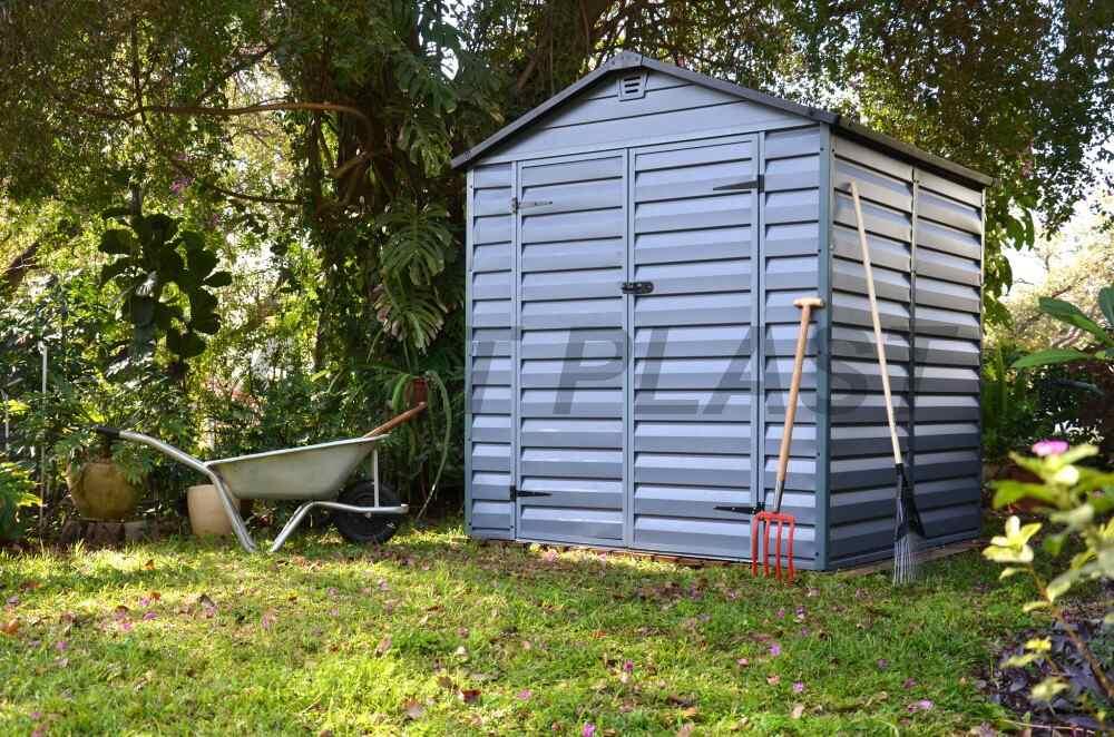 Zahradní domek plastový SkyLight 6x5 šedý