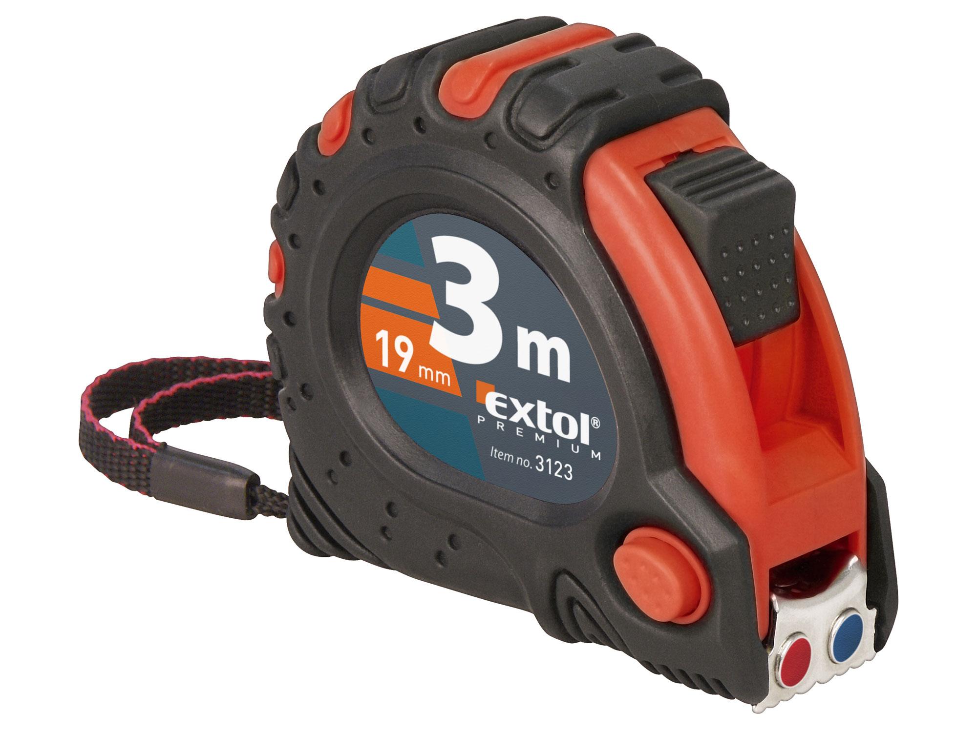 Metr svinovací, 2m, š. pásku 16mm EXTOL PREMIUM 3122
