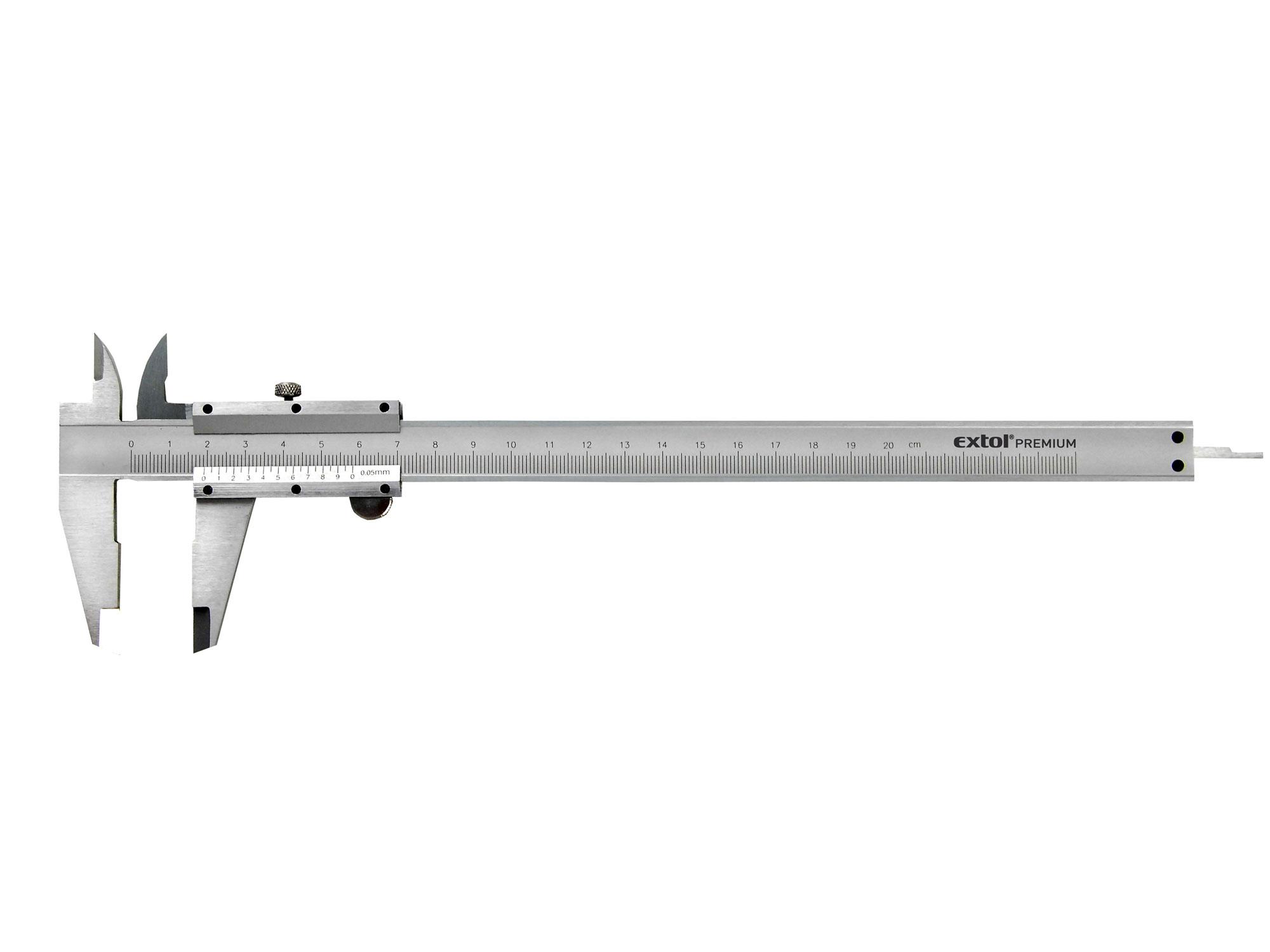 Měřítko posuvné kovové, 0-200mm EXTOL PREMIUM 3422