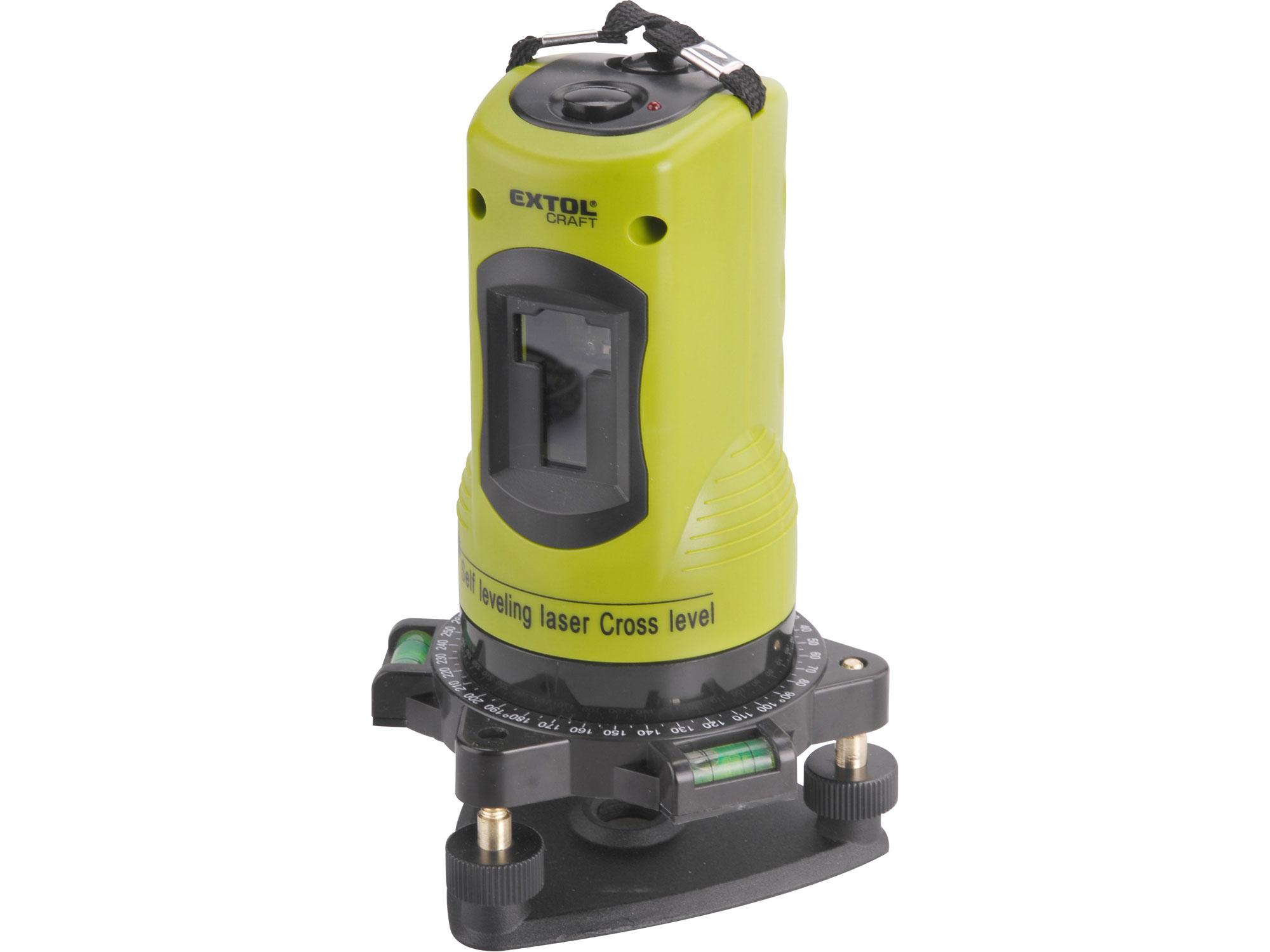 Laser liniový, křížový samonivelační EXTOL CRAFT 34900