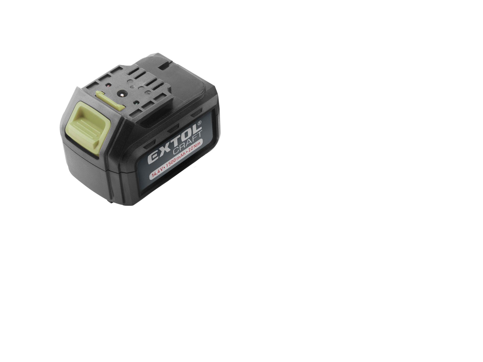 Baterie akumulátorová 14,4V, Li-ion, 1500mAh EXTOL CRAFT 402420B