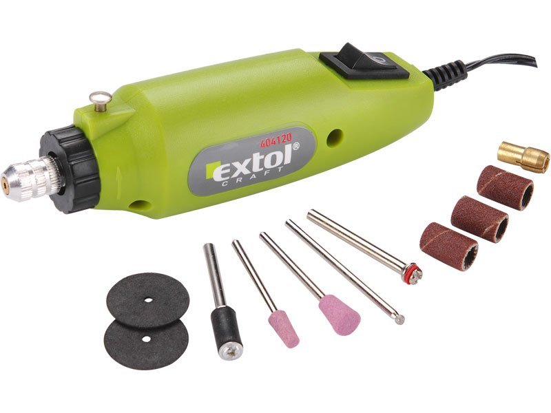 EXTOL CRAFT mini bruska / vrtačka s transformátorem 404120