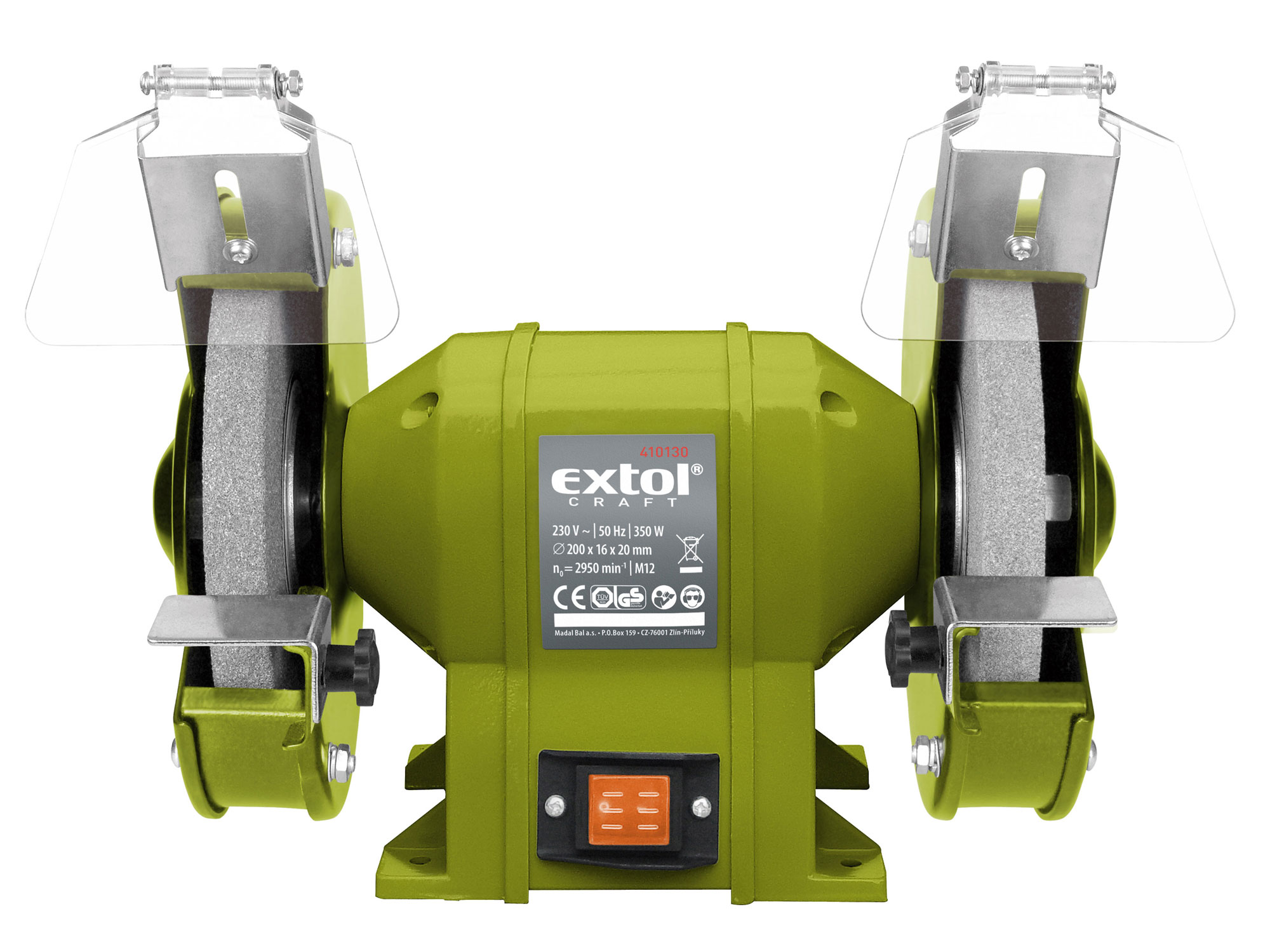 Bruska stolní dvoukotoučová, 350W EXTOL CRAFT 410130