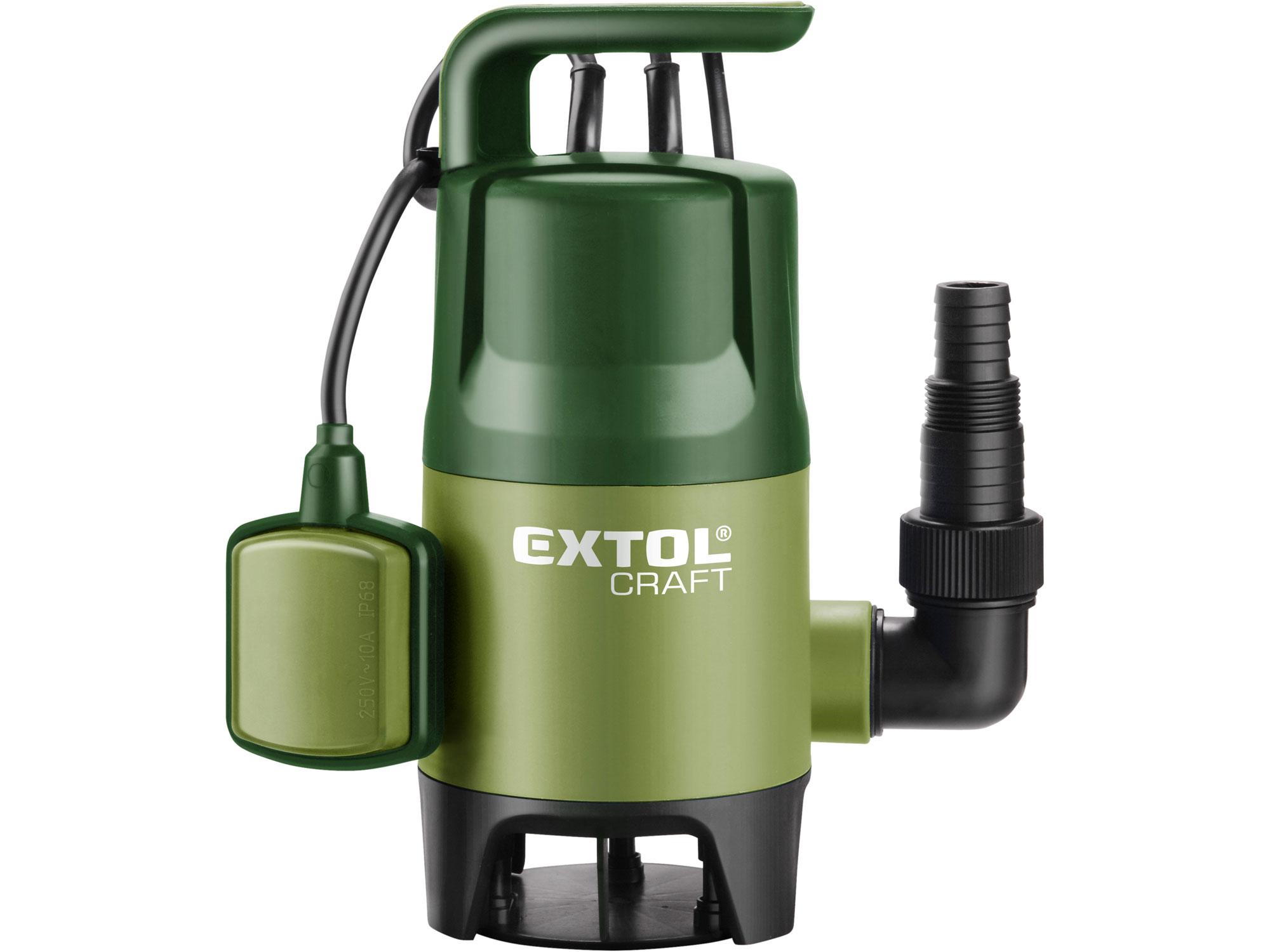 Čerpadlo na znečištěnou vodu, 400W, 7500l/hod EXTOL CRAFT 414122