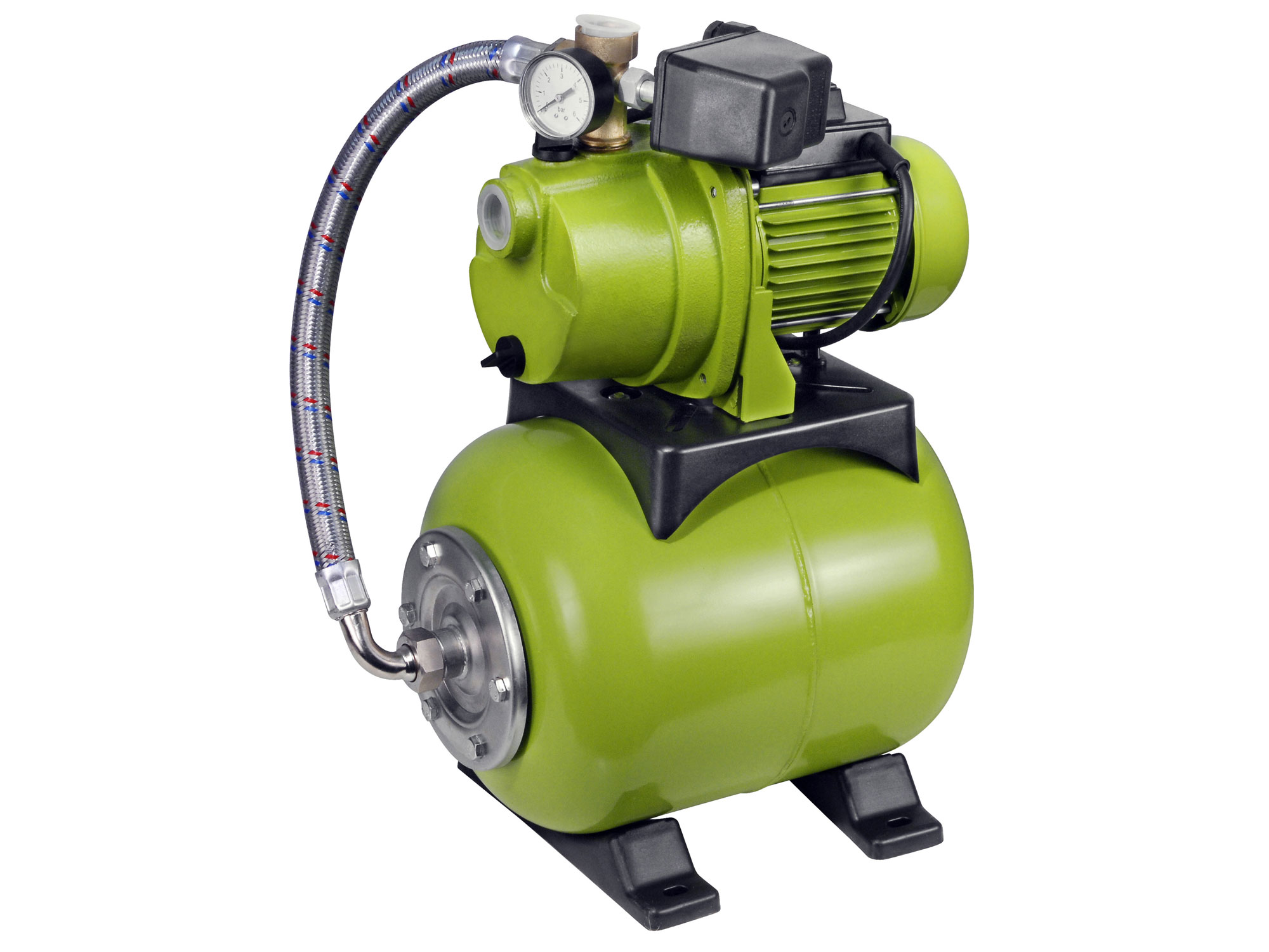 Čerpadlo elektrické proudové s tlak. nádobou, 1200W, 3800l/hod, 20l, EXTOL CRAFT 414251