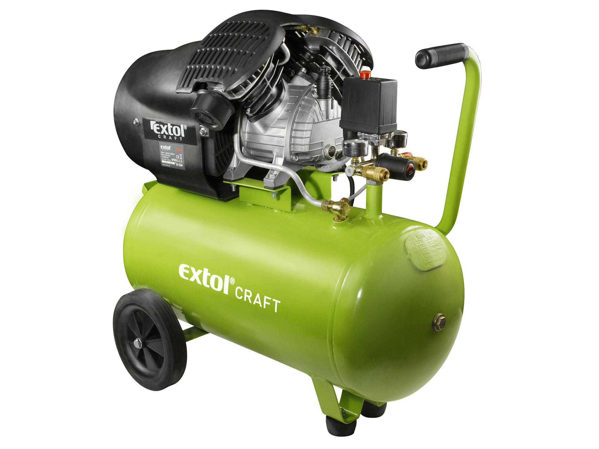 Kompresor olejový, 2200W, 50l, EXTOL CRAFT 418211