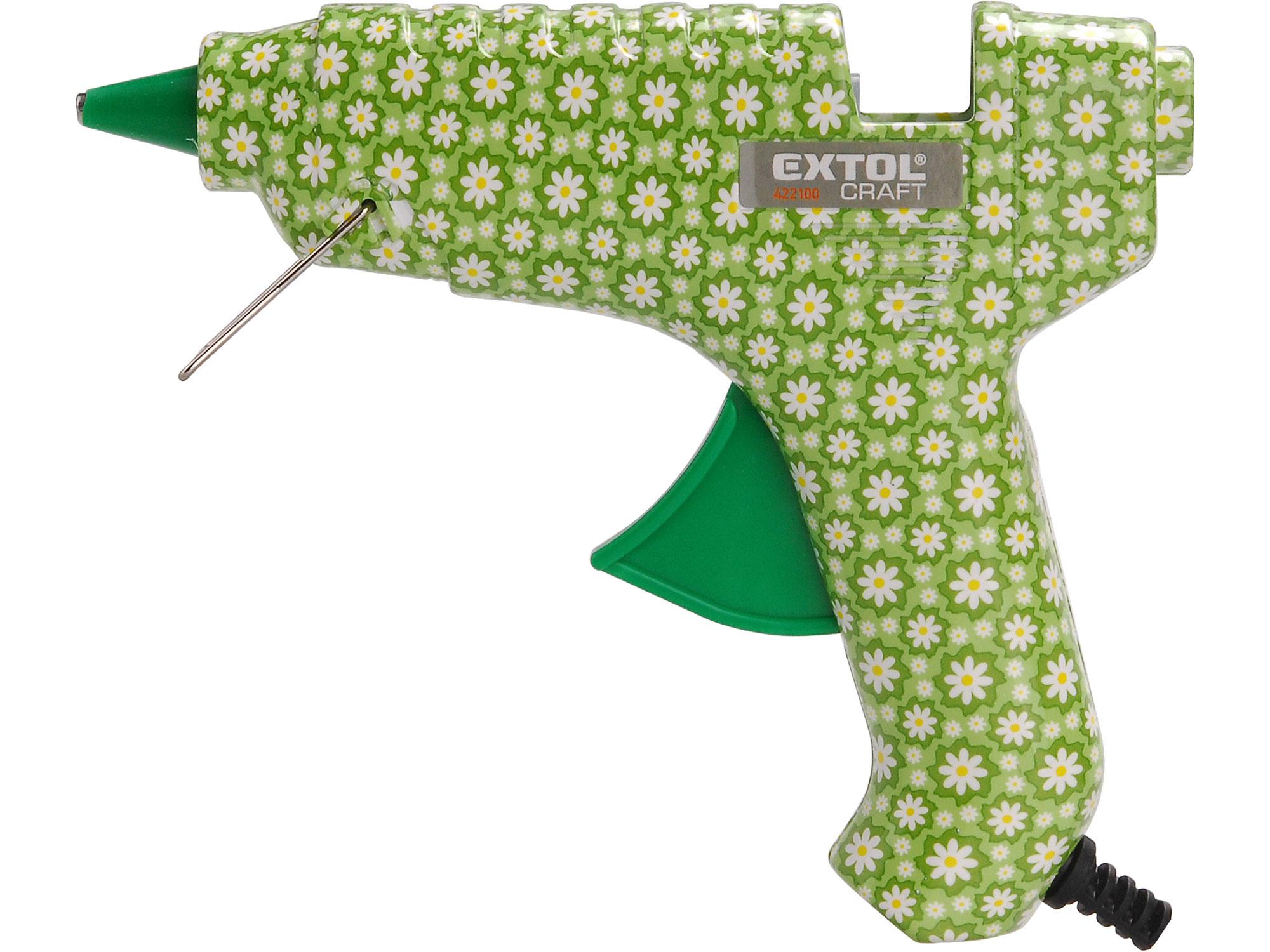Pistole tavná lepící, květinová, 40W EXTOL CRAFT 422100