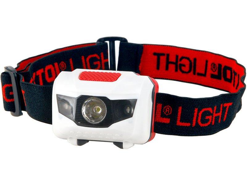 Svítilna čelovka 1W + 2LED, 4módy světla 43102